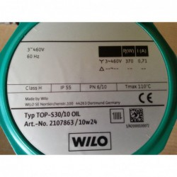 image: Pompa Wilo TOP-S 30/10 OIL trójfazowa Nowa z gwarancją
