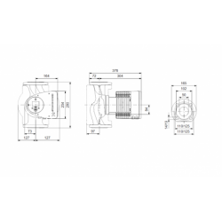 image: Pompa Obiegowa KSB Calio 50-120 - Grundfos Wilo 50/1-12