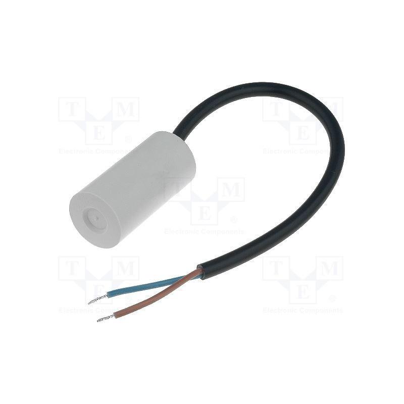 image: MIFLEX I150V550K-C1 Kondensator: do silników, pracy; 5uF; 450V; Ø30x53mm; -25÷70°C